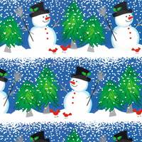 Snowman and Cardinal Gift Wrap - FREE FREIGHT