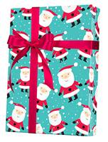 Snowy Santa Gift Wrap Wholesale Gift Wrap Paper, Christmas Gift Wrap Paper