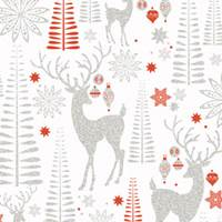 Sparkling Reindeer Gift Wrap Paper Wholesale gift wrap paper, Jillson & Roberts gift wrap, Christmas gift wrap, Winter gift wrap, Holiday gift wrap, Hanukkah gift wrap