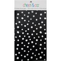 White Dots on Black Resale Tissue Paper