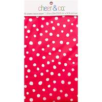 White Dots on Hot Pink Resale Tissue Paper