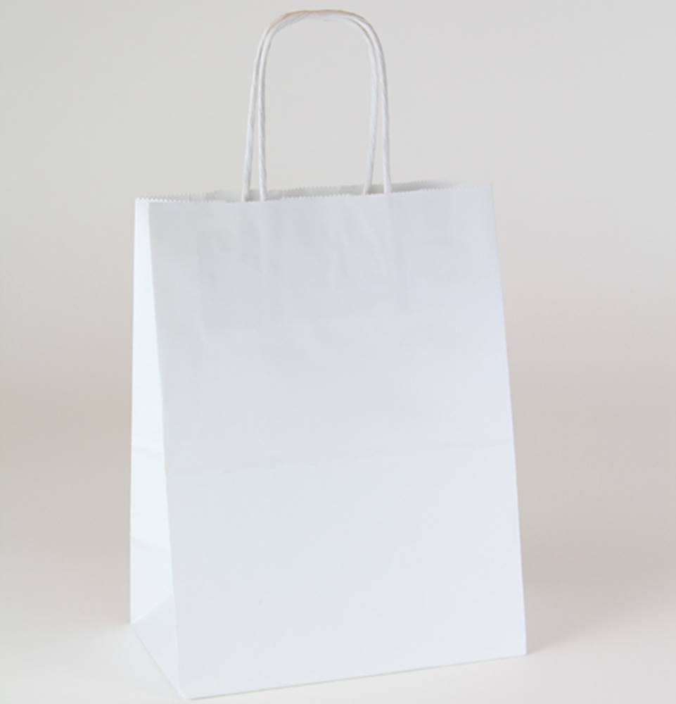 Custom Printed Paper Ping Bags White Kraft Ink