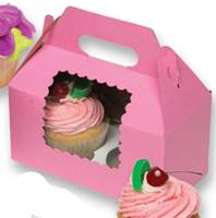 Windowed Gable Boxes (Pink)