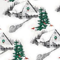Winter Barn Gift Wrap Paper