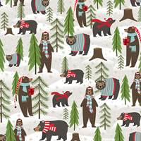 Winter Bear Gift Wrap Paper Wholesale gift wrap paper, Jillson & Roberts gift wrap, Christmas gift wrap, Winter gift wrap, Holiday gift wrap, Hanukkah gift wrap