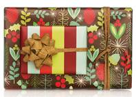 Woodland Acorn Gift Wrap Paper (Reversible)