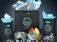 Black Die Cut Shopping Bags