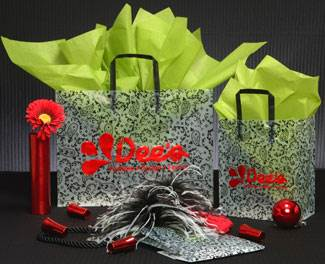 Black Paisley Shopping Bags