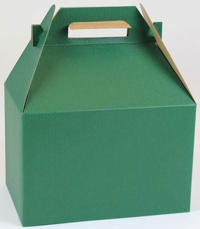 Forest Green Shadow Stripe Gable Box