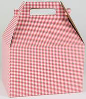 Red Diamond Check Gable Box