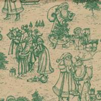 Christmas Toile Green Tissue Paper