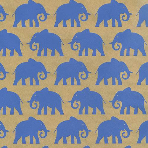 Elephants on Kraft Tissue Paper
