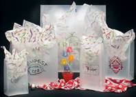 Frosted Clear Die Cut Bags