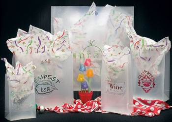 Frosted Die-cut Shoppers - Clear - Clear Frosted Die Cut Shopping Bags #0710FRS & Frosted Die-cut Shoppers - Clear - Clear Frosted Die Cut Shopping ...