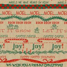 Holiday Words Tissue Paper