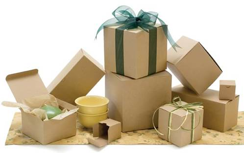 Wholesale Gift Boxes One Piece Gift Box Natural Kraft