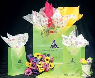 Lime Frosted Shopping Bags