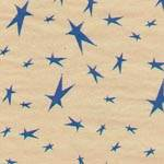 Mini Stars Navy on Kraft Tissue Paper