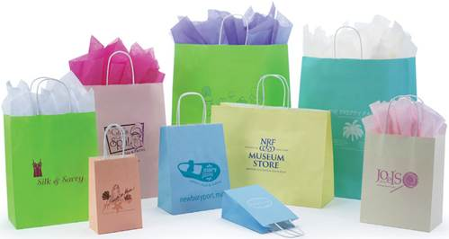 Matte Tints on White Paper Shopping Bags
