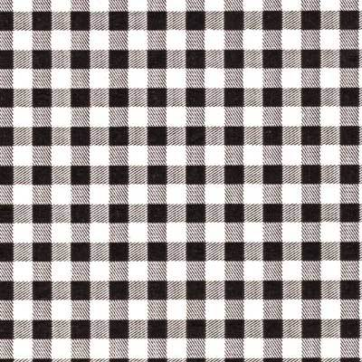 Gingham - Black Tissue Paper