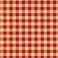 Gingham Tissue Paper - Red/Kraft