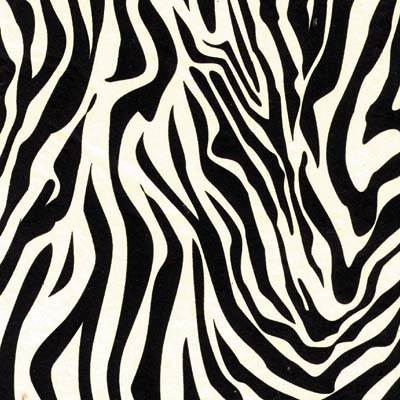 zebra tissue paper Zebra tissue paper is made of paper, is pink and white, includes 8 sheets that measure 20 long and 20 wide.