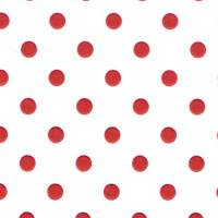 Red Dots on White Tissue Paper