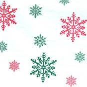 Red/Green Snowflakes on White Tissue Paper