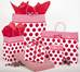 Rouge Dots Shopping Bags
