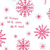 Snowflakes Red on White Tissue Paper