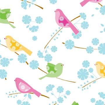Song Birds Tissue Paper