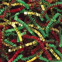 Red/Green/Gold Golden Blend Crinklecut Shred