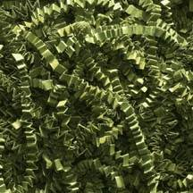 Olive Green Spring-Fill Crinkle Cut Shred