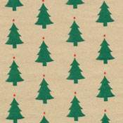 Trees on Kraft Tissue Paper