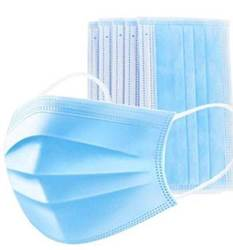 Disposable Face Masks (3 Ply Structure with Adjustable Nose)  50 PACK