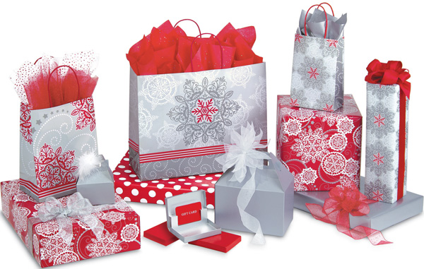 Christmas Lace Shopping Bags