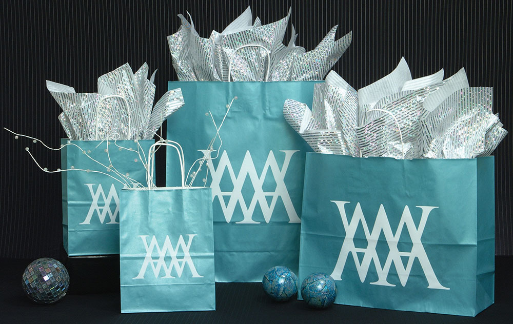 Celestial Blue Ice Shopping Bags