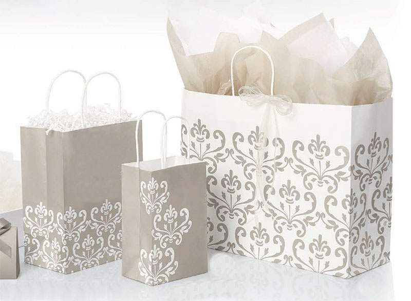 Champagne Chic Paper Shopping Bags
