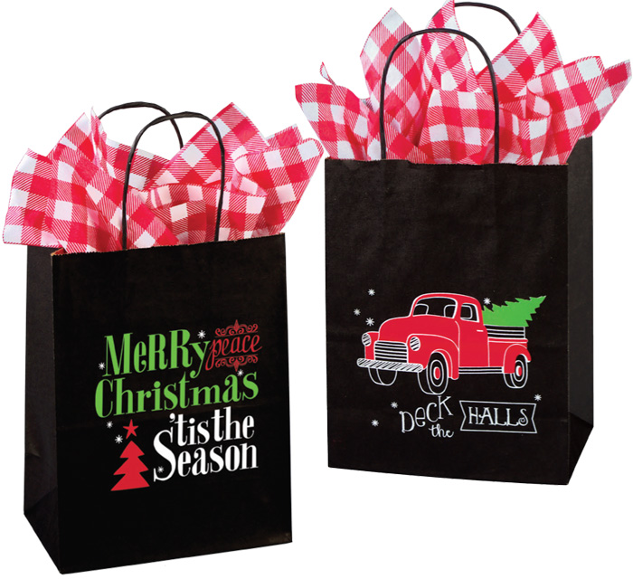 Christmas Night Paper Shopping Bags