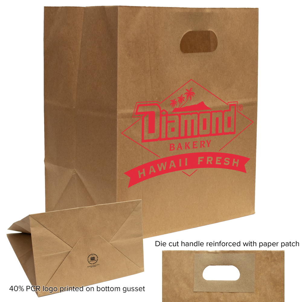 Die Cut Paper Take Out Bags
