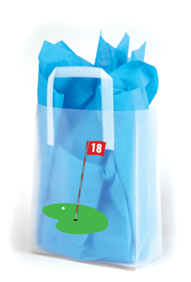 18th Hole Frosted Shopping Bags
