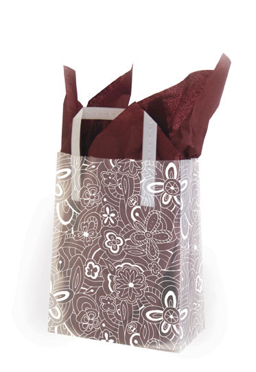 White Floral Sketch Shopping Bags