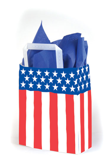 Spirit of America Frosted Shopping Bags
