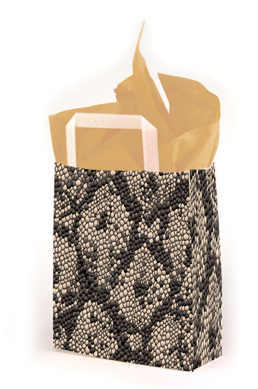 Rattler Frosted Shopping Bags
