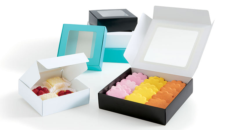 Foodie Square Folding Boxes with Window