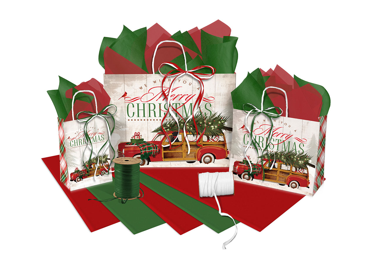 Holiday Travels Paper Shopping Bags