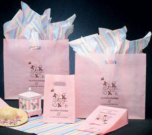 Frosted Die-cut Shoppers - Light Pink