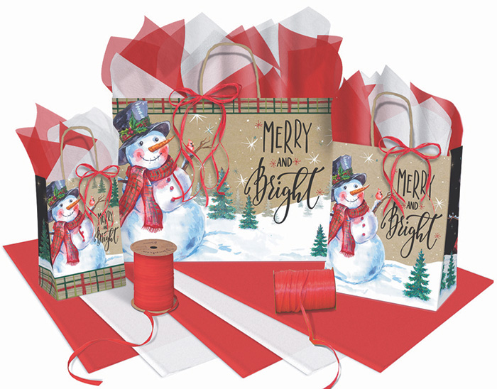 Merry & Bright Paper Shopping Bags