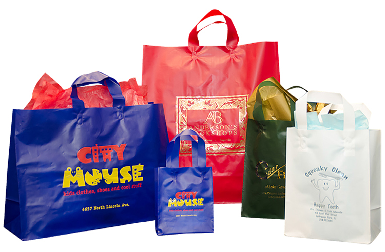 Frosted Solid Color Shopping Bags