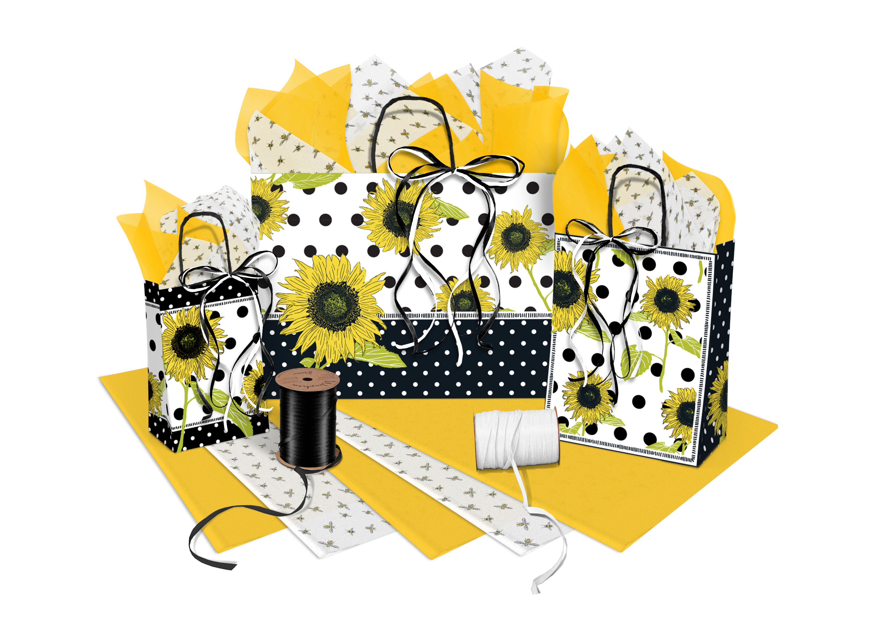 Sunflower Paper Shopping Bags